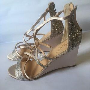 Badgley Mischka Jewel Wedge Heels Size: 9.5